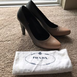 Prada bi-color heels in EU size 40 (US 10)